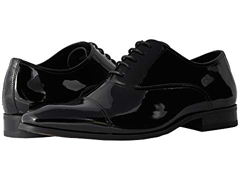 FLORSHEIM キャップ 帽子 オックスフォード メンズ ビジネススニーカー 【 Tux Cap Toe Oxford 】 Black Patent