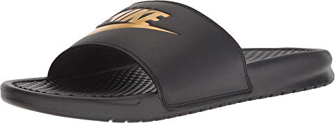 ナイキ NIKE ベナッシ サンダル 黒 ブラック 金色 ゴールド スニーカー 【 SLIDE BLACK NIKE BENASSI JDI GOLD 】 メンズ スニーカー