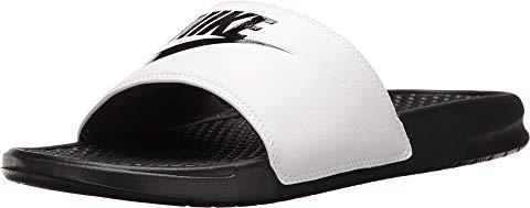 ナイキ NIKE ベナッシ サンダル 白 ホワイト 黒 ブラック スニーカー 【 SLIDE WHITE BLACK NIKE BENASSI JDI 】 メンズ スニーカー