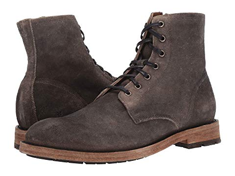 FRYE スニーカー メンズ 【 Bowery Lace-up 】 Faded Black Distressed Oiled Suede