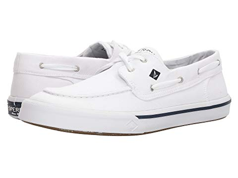 SPERRY 白 ホワイト スニーカー 【 WHITE SPERRY BAHAMA II BOAT WASHED SNEAKER 】 メンズ スニーカー