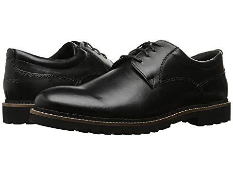 ROCKPORT オックスフォード スニーカー メンズ 【 Marshall Plain Toe Oxford 】 Black Leather