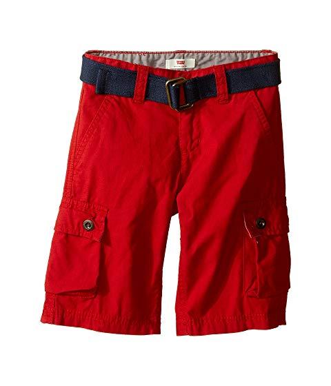 LEVI'S・・ KIDS ウエストウッド カーゴ ショーツ ハーフパンツ キッズ ベビー マタニティ ボトムス ジュニア 【 Westwood Cargo Shorts (little Kids) 】 Pompeian Red
