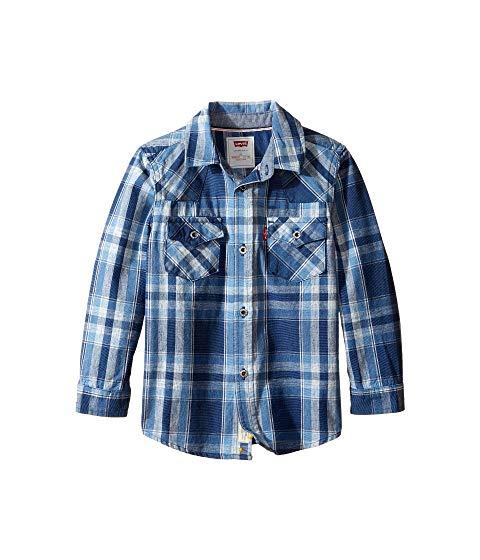 【海外限定】Tシャツ トップス 【 BARSTOW PLAID WESTERN SHIRT TODDLER 】