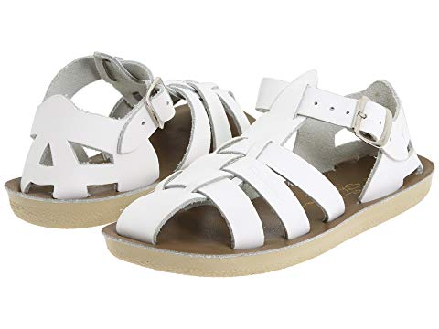 SALT WATER SANDAL BY HOY SHOES キッズ ベビー マタニティ ジュニア 【 Sun-san - Sharks (toddler/little Kid) 】 White