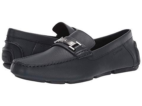 カルバンクライン CALVIN KLEIN スニーカー メンズ 【 Magnus 】 Dark Navy Small Grid Emboss Leather