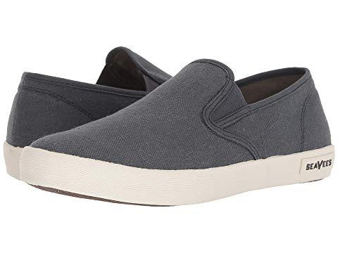 SEAVEES スリッポン スタンダード スニーカー メンズ 【 02/64 Baja Slip-on Standard 】 Slate Navy Vintage Wash Linen