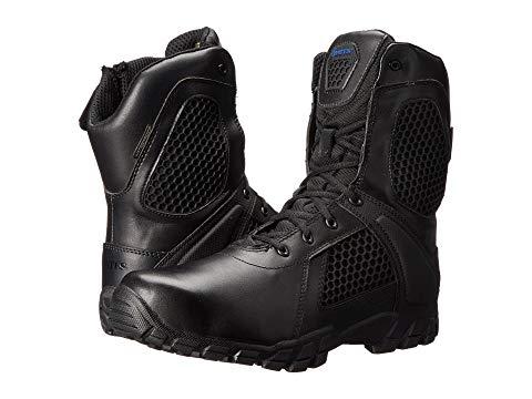 """ベイツフットウエア BATES FOOTWEAR ショック 黒 ブラック 8"""" スニーカー 【 BLACK BATES FOOTWEAR SHOCK SIDE ZIP 】 メンズ スニーカー"""
