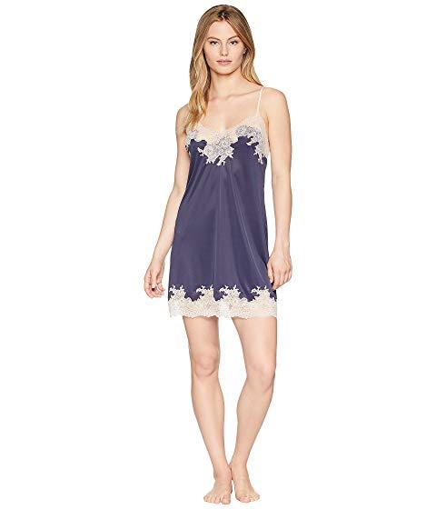 NATORI インナー 下着 ナイトウエア レディース 【 Enchant Lace Trim Chemise 】 Night Blue/rose