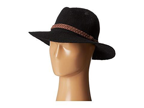 【海外限定】ニット スエード スウェード バッグ メンズ帽子 【 KNH8008 MACHINE KNIT FEDORA W BRAIDED SUEDE TRIM 】
