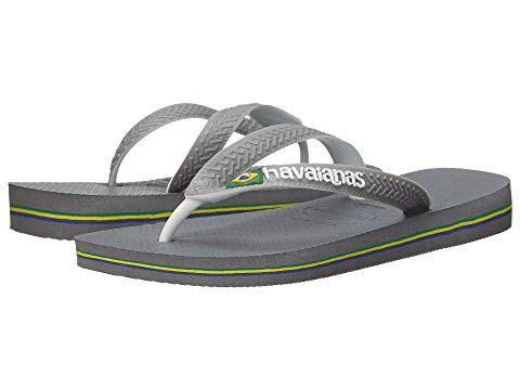 HAVAIANAS レディース 【 Brazil Mix Flip Flops 】 Steel Grey/white/white