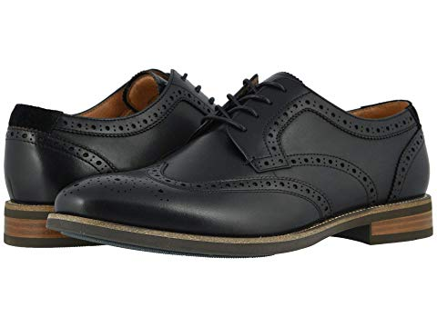 FLORSHEIM スニーカー 【 UPTOWN WING TIP OXFORD BLACK LEATHER SUEDE 】 メンズ 送料無料