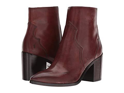 FRYE メンズ ブーツ レディース 【 Flynn Short Inside Zip 】 Brown Antiqued Polished Leather