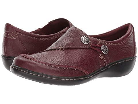 クラークス CLARKS レディース 【 Ashland Lane Q 】 Burgundy Tumbled Leather
