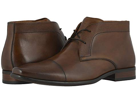 FLORSHEIM チャッカ スニーカー 【 POSTINO CHUKKA BOOT COGNAC SMOOTH SCRATCH PRINT 】 メンズ 送料無料