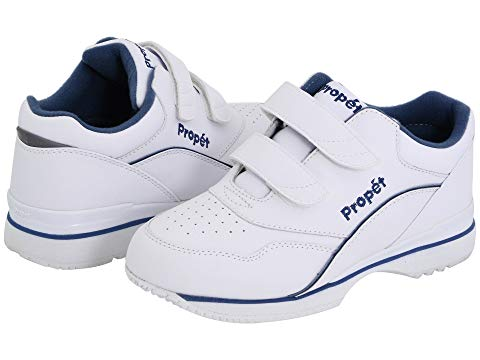 PROPET 白 ホワイト 青 ブルー = 【 WHITE BLUE PROPET TOUR WALKER MEDICARE HCPCS CODE A5500 DIABETIC SHOE 】 メンズ