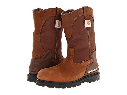 """【★スーパーセール中★ 6/11深夜2時迄】カーハート CARHARTT 銀色 スチール ブーツ 11"""" メンズ 【 11"""" Waterproof Steel Toe Wellington Boot 】 Brown Oil Tan"""