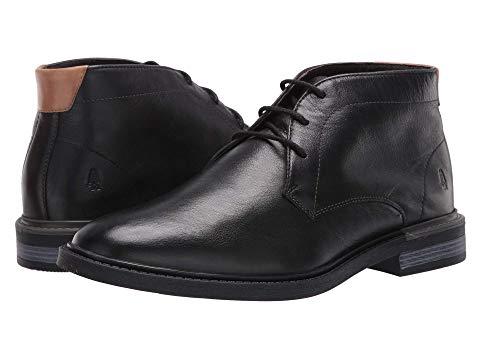 HUSH PUPPIES チャッカ ブーツ 黒 ブラック レザー スニーカー 【 BLACK HUSH PUPPIES DAVIS CHUKKA BOOT LEATHER 】 メンズ スニーカー