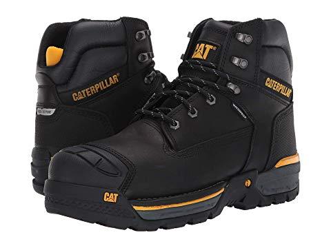 """キャタピラー CATERPILLAR 6"""" スニーカー メンズ 【 Excavator Lt 6"""" Waterproof Composite Toe 】 Black Full Grain Leather"""