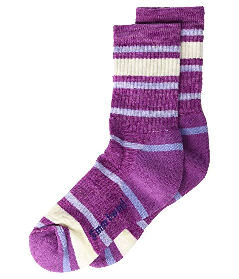 SMARTWOOL KIDS 【 SMARTWOOL KIDS STRIPED HIKE LIGHT CREW TODDLER LITTLE KID BIG MEADOW MAUVE 】 キッズ ベビー マタニティ 下