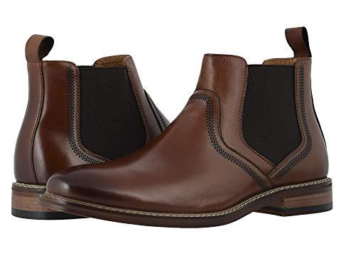 STACY ADAMS ブーツ スニーカー メンズ 【 Altair Plain Toe Chelsea Boot 】 Cognac