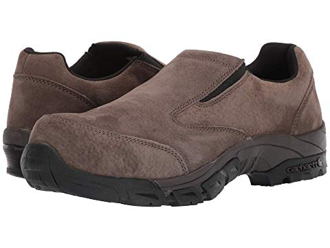 カーハート CARHARTT カーボン ナノ スリッポン スニーカー メンズ 【 Carbon Nano Comp Toe Slip-on Work Shoe 】 Brown Suede