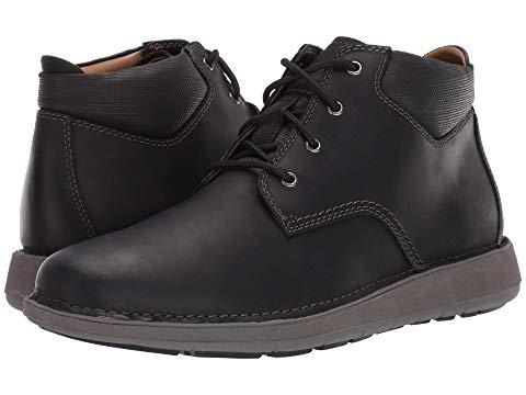 クラークス CLARKS スニーカー メンズ 【 Un Larvik Top 】 Black Oily Leather