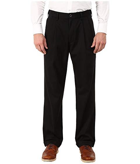 ドッカーズ DOCKERS カーキ 黒 ブラック メタル 【 BLACK DOCKERS COMFORT KHAKI STRETCH RELAXED FIT PLEATED METAL 】 メンズファッション ズボン パンツ