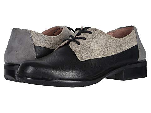 NAOT メンズ ビジネススニーカー レディース 【 Kedma 】 Soft Black Leather/speckled Beige Leather/smoke Gray Nubuck