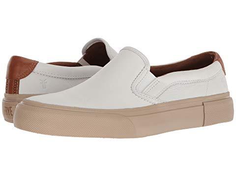 FRYE スリッポン メンズ 【 Ludlow Slip-on 】 White Sheep Leather