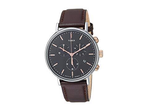 TIMEX タイメックス 黒 ブラック 茶 ブラウン 【 BLACK BROWN TIMEX FAIRFIELD CHRONO 】 腕時計 男女兼 腕時計