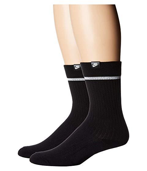 ナイキ NIKE ソックス 靴下 インナー 下着 ナイトウエア ユニセックス 下 レッグ 【 Sneaker Sox Essential Crew Socks 2-pair Pack 】 Black/white/white