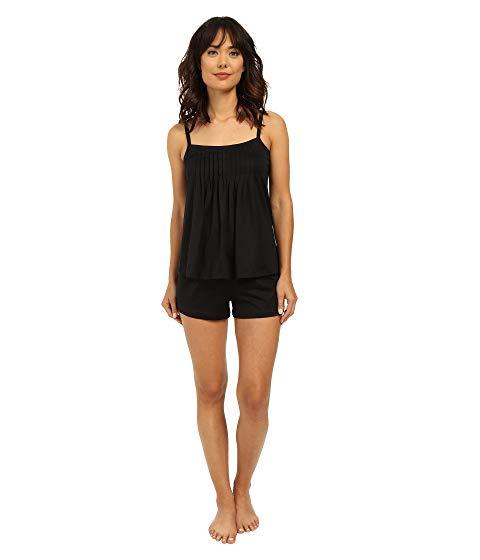 HANRO インナー 下着 ナイトウエア レディース ナイト ルーム パジャマ 【 Juliet-basic Short Pajama 】 Black