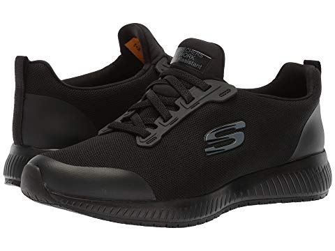 SKECHERS WORK レディース 【 Squad Sr 】 Black Flat Knit