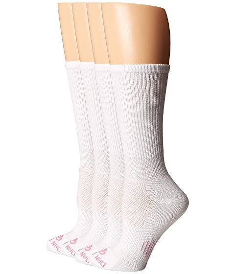 ダンポスト DAN POST ソックス 靴下 インナー 下着 ナイトウエア レディース 下 レッグ 【 Cowgirl Certified Dp Lites Crew Socks 4-pack 】 White