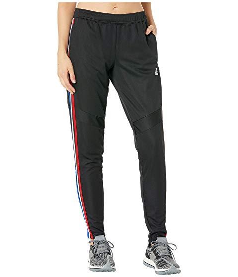 アディダス ADIDAS 黒 ブラック パワー 赤 レッド '19 【 BLACK POWER RED ADIDAS TIRO PANTS 】 レディースファッション ボトムス パンツ