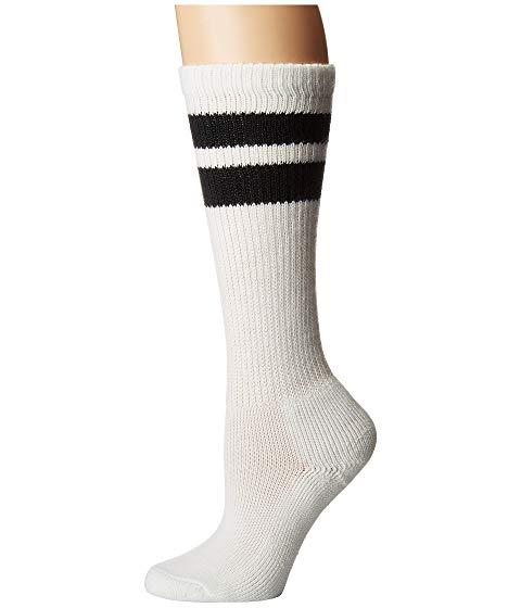 THORLOS インナー 下着 ナイトウエア ユニセックス 下 レッグ 【 Old School Over Calf Single Pair 】 White/black Stripes