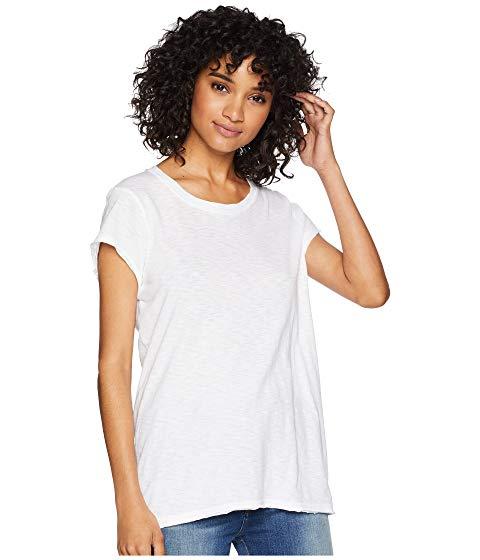 MICHAEL STARS 【 SUPIMA COTTON SLUB CREW NECK TEE WHITE 】 レディースファッション トップス Tシャツ カットソー 送料無料