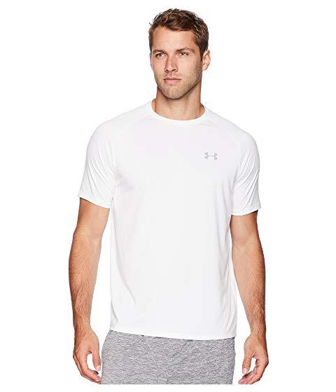 アンダーアーマー UNDER ARMOUR テック スリーブ Tシャツ 白 ホワイト 灰色 グレー グレイ 【 SLEEVE WHITE GRAY UNDER ARMOUR UA TECH SHORT TEE OVERCAST 】 メンズファッション トップス Tシャツ カットソー