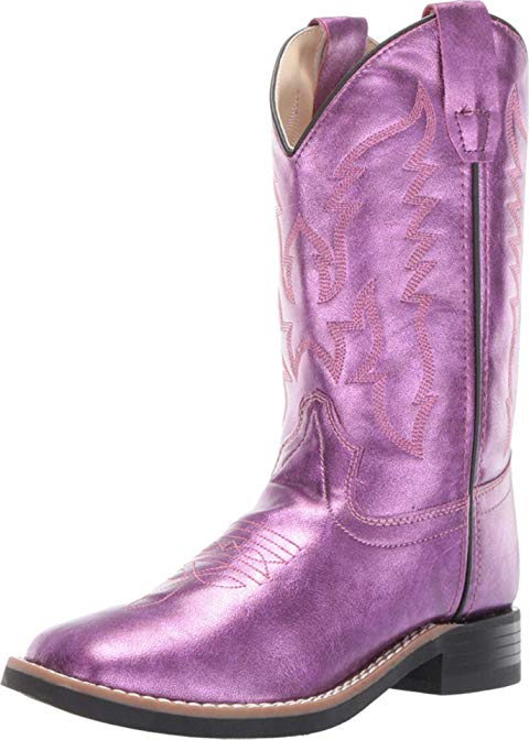 OLD WEST KIDS BOOTS ピンク 【 PINK OLD WEST KIDS BOOTS GINA TODDLER LITTLE KID SHINY 】 キッズ ベビー マタニティ