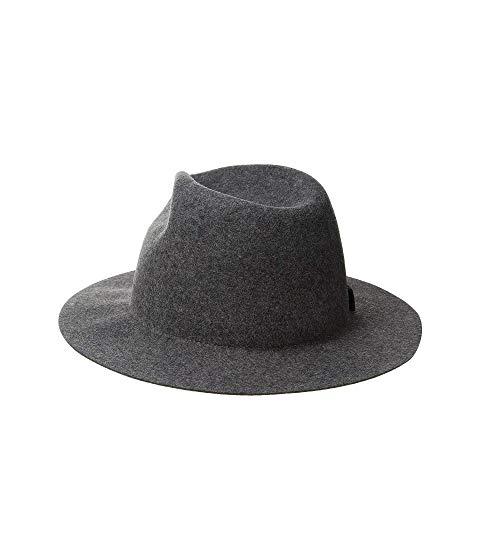 SAN DIEGO HAT COMPANY チャコールSAN DIEGO HAT COMPANY WFH8205 PACKABLE FELT FEDORA CHARCOALバッグキャップ 帽子 レディースキャップ 帽子W2EebY9DHI