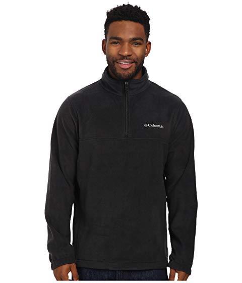 コロンビア COLUMBIA ハーフ 黒 ブラック MOUNTAIN・・ 【 BLACK COLUMBIA STEENS HALF ZIP 】 メンズファッション コート ジャケット