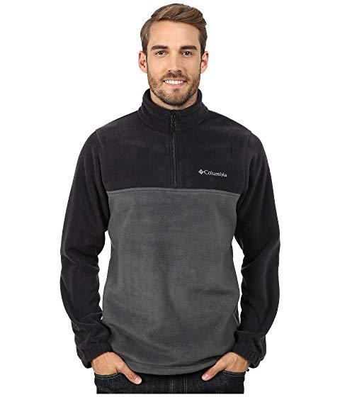 コロンビア COLUMBIA ハーフ 黒 ブラック MOUNTAIN・・ 【 BLACK COLUMBIA STEENS HALF ZIP GRILL 】 メンズファッション コート ジャケット
