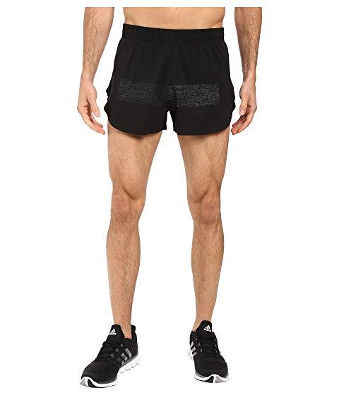 アディダス ADIDAS スーパーノバ ノヴァ ショーツ ハーフパンツ 黒 ブラック 【 BLACK ADIDAS SUPERNOVA SPLIT SHORTS 】 メンズファッション ズボン パンツ