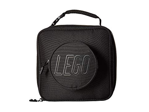 LEGO ランチ バッグ 黒 ブラック 【 BLACK LEGO BRICK LUNCH BAG 】 キッズ ベビー マタニティ バッグ ランドセル