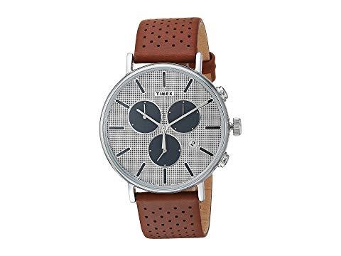 TIMEX タイメックス スーパーノバ ノヴァ 茶 ブラウン 銀色 シルバー 【 BROWN SILVER TIMEX FAIRFIELD SUPERNOVA CHRONO 】 腕時計 メンズ腕時計