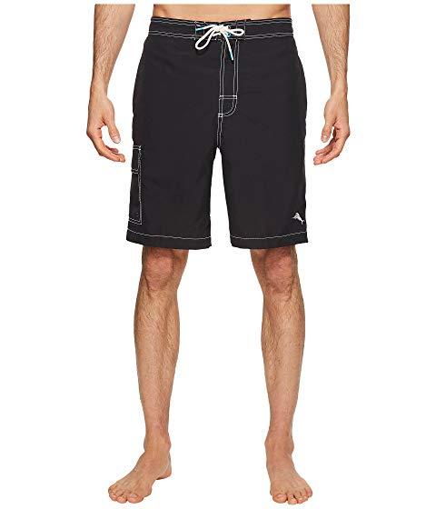 TOMMY BAHAMA 黒 ブラック 【 BLACK TOMMY BAHAMA BAJA BEACH SWIM TRUNK 】 メンズファッション 水着