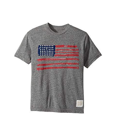 【海外限定】ショーツ ハーフパンツ スリーブ Tシャツ キッズ 【 SLEEVE AMERICAN FLAG SHORT TRIBLEND CREW TEE BIG KIDS 】