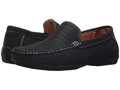 STACY ADAMS メンズ 【 Cicero Casual Slip On Loafer 】 Navy