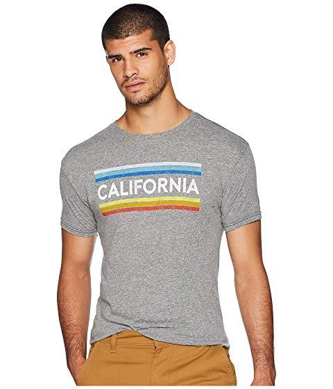 THE ORIGINAL RETRO BRAND ビンテージ ヴィンテージ カリフォルニア ストライプ Tシャツ メンズファッション トップス カットソー メンズ 【 Vintage California Stripe Tri-blend Tee 】 Streaky Grey